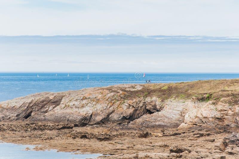 Pointe Άγιος-Mathieu σε Plougonvelin σε Finistère στοκ φωτογραφίες