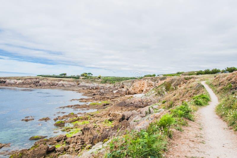 Pointe Άγιος-Mathieu σε Plougonvelin σε Finistère στοκ εικόνες