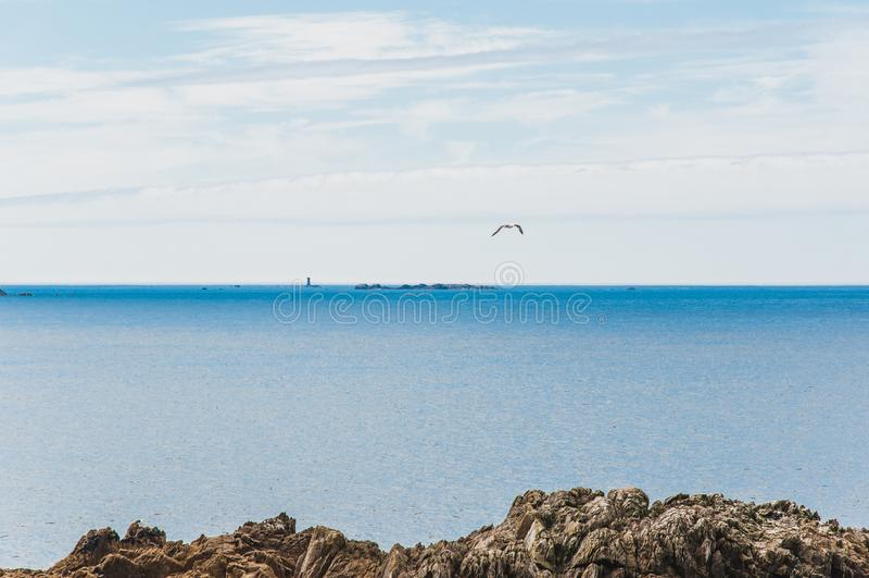 Pointe Άγιος-Mathieu σε Plougonvelin σε Finistère στοκ εικόνες με δικαίωμα ελεύθερης χρήσης