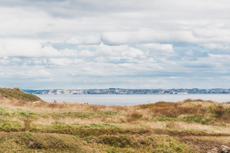 Pointe Άγιος-Mathieu σε Plougonvelin σε Finistère στοκ φωτογραφία με δικαίωμα ελεύθερης χρήσης