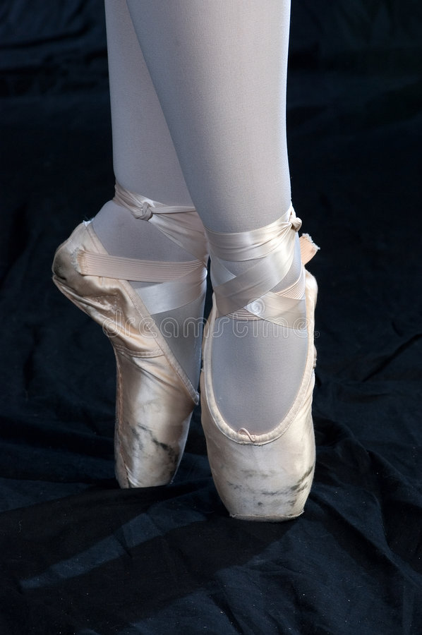 Download On Pointe stock photo. Image of entertain, slippers, ballerina - 891680
