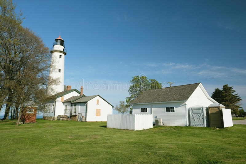 Pointe aux Barques Lighthouse, built in 1848. Lake Huron, Michigan, USA stock photos