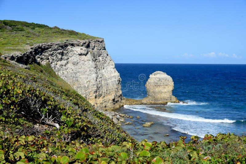 "Pointe de l ""enfer en Guadeloupe photo stock"
