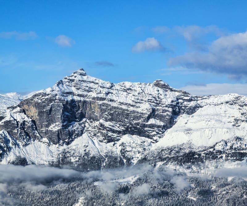 Pointe DE Plate - de Franse Alpen stock afbeeldingen