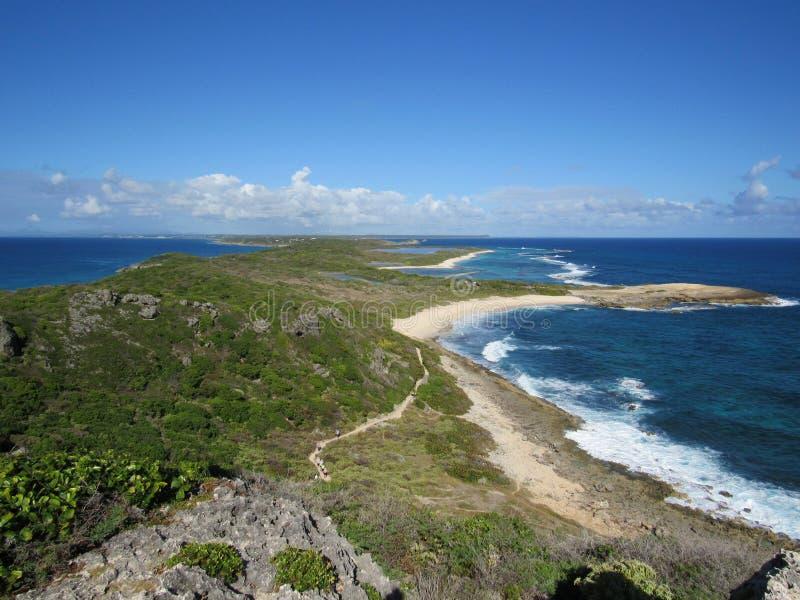 Pointe des Châteaux - Guadeloupe arkivfoton