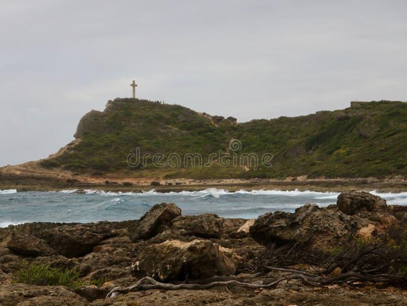 Pointe des-Chateaux, var karibiskt, möter Atlanten royaltyfria bilder
