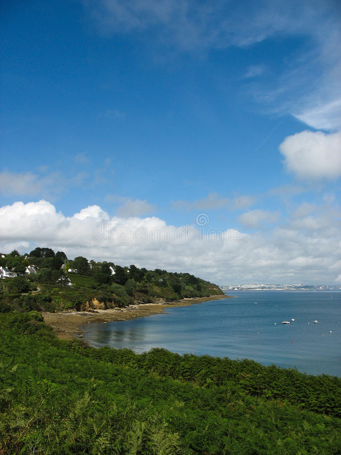 Download Pointe Des Espagnols And Sea Coast In Brittany Stock Photo - Image: 33436260