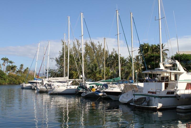 Pointe du Anfall Marina - Trois-Ilets - Martinique arkivbilder