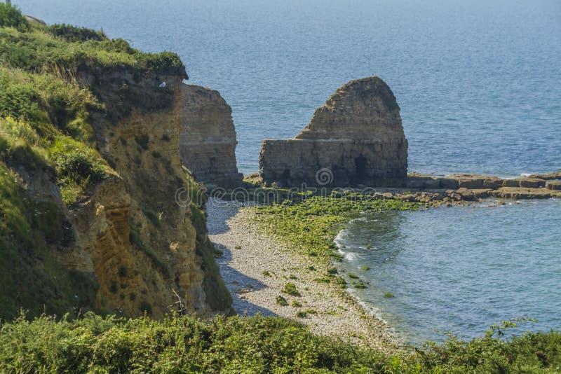 Pointe du Hoc стоковое фото