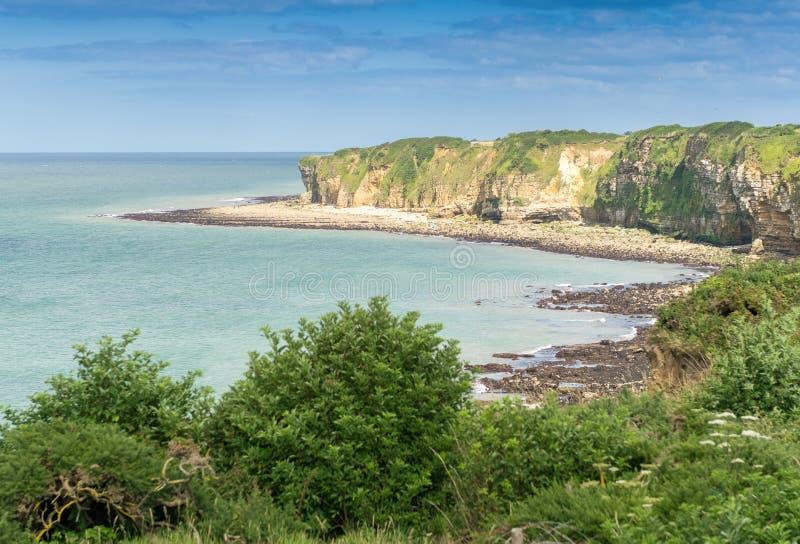 Pointe Du Hoc - Cudowny wybrzeże Normandy fotografia royalty free