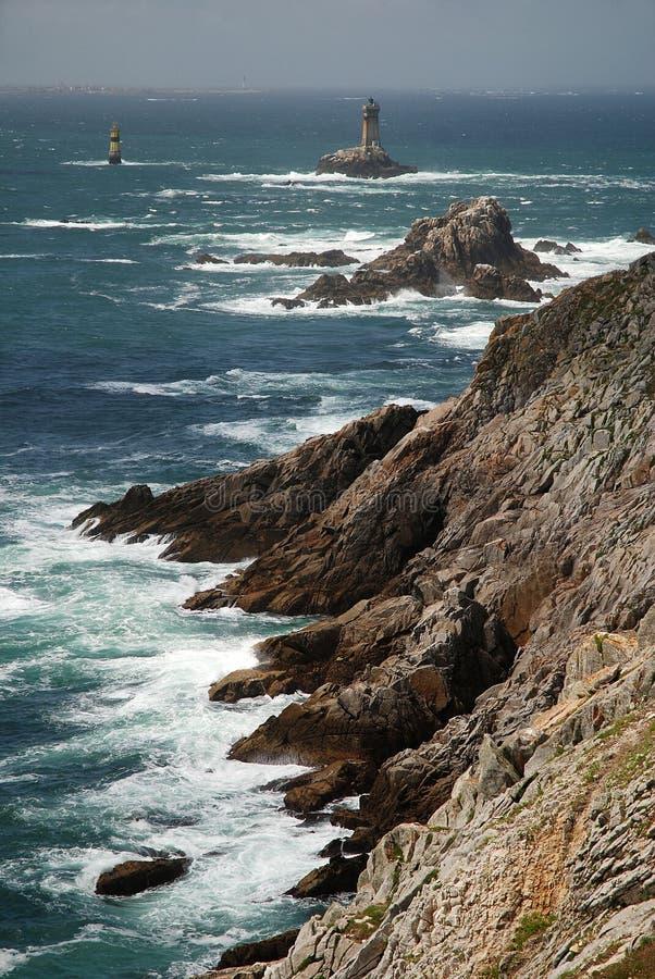 Pointe du Raz, Brittany, France photographie stock libre de droits