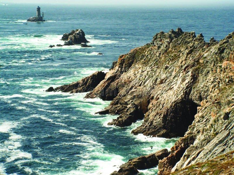 Pointe du Raz, Finistère, Bretagne imagem de stock