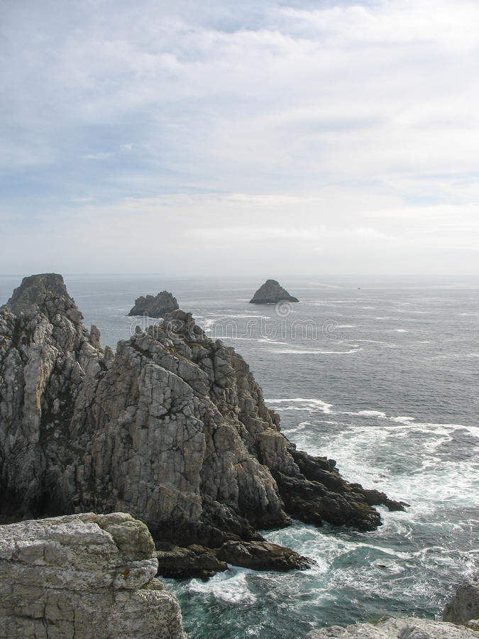 Pointe Du Raz Och Havskust I Brittany Fotografering för Bildbyråer
