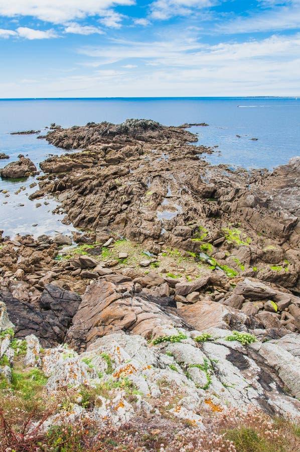 Pointe Heilig-Mathieu in Plougonvelin in Finistère stockbild