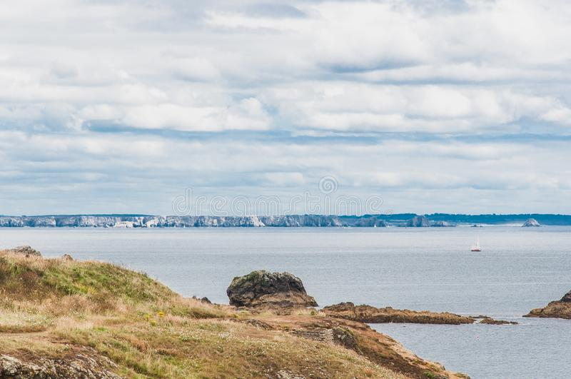 Pointe Heilig-Mathieu in Plougonvelin in Finistère stockfotografie