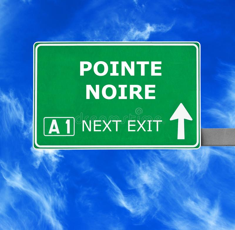 POINTE NOIRE road sign against clear blue sky royalty free stock photos