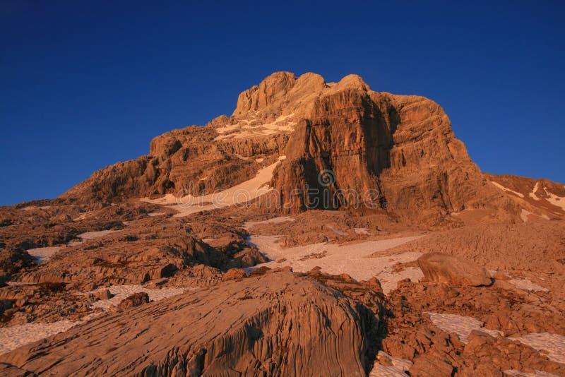 Pointe Percee au coucher du soleil images libres de droits