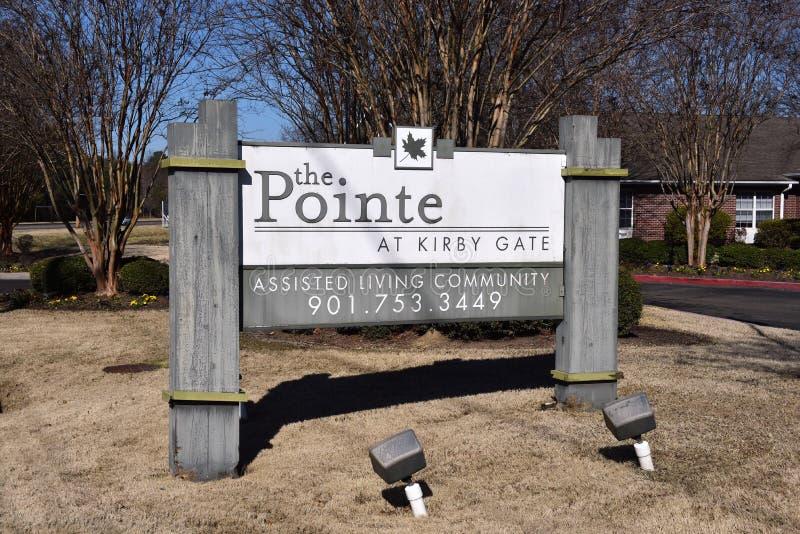 Pointe przy Kirby brama Pomagającą Żywą społecznością fotografia stock