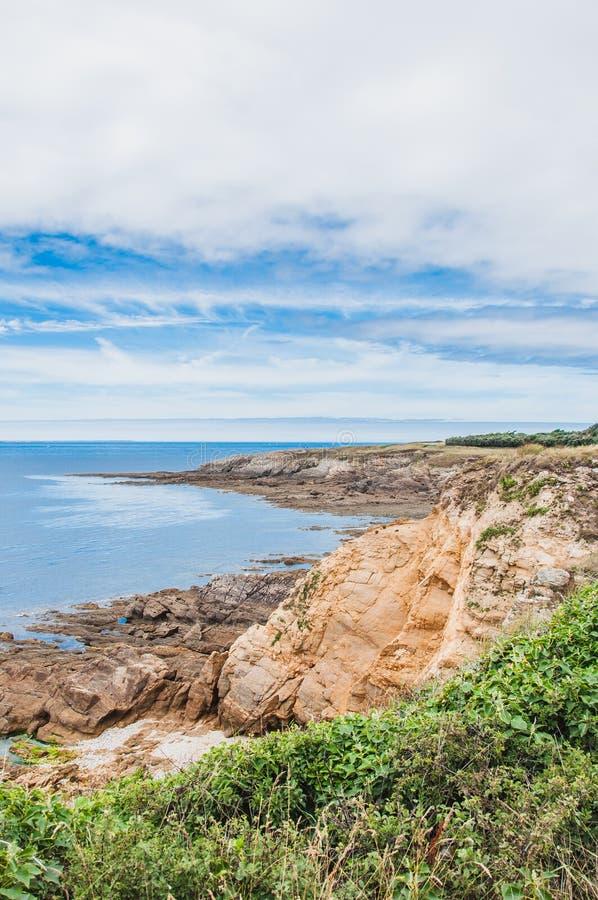 Pointe San-Mathieu in Plougonvelin in Finistère immagini stock libere da diritti