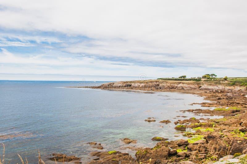 Pointe San-Mathieu in Plougonvelin in Finistère immagine stock libera da diritti