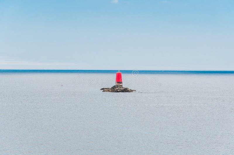 Pointe San-Mathieu in Plougonvelin in Finistère fotografia stock