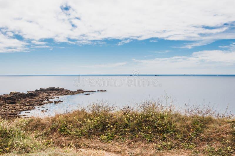 Pointe Santo-Mateo en Plougonvelin en Finistère imagen de archivo