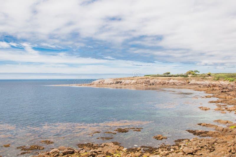 Pointe Santo-Mateo en Plougonvelin en Finistère fotografía de archivo