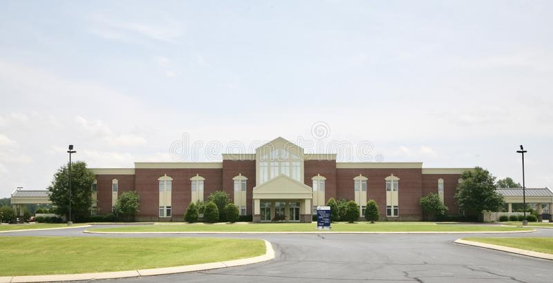 Pointe transversal Baptist Church, Millington, TN fotos de stock