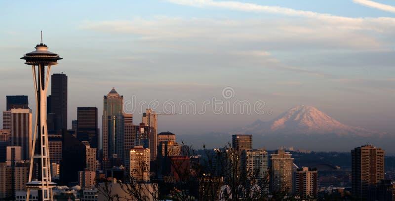 Pointeau de l'espace de Seattle plus pluvieux   photographie stock libre de droits