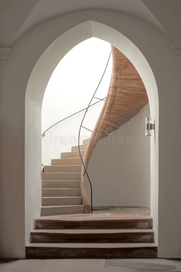 Download Pointed Arch With Staircase Stock Image