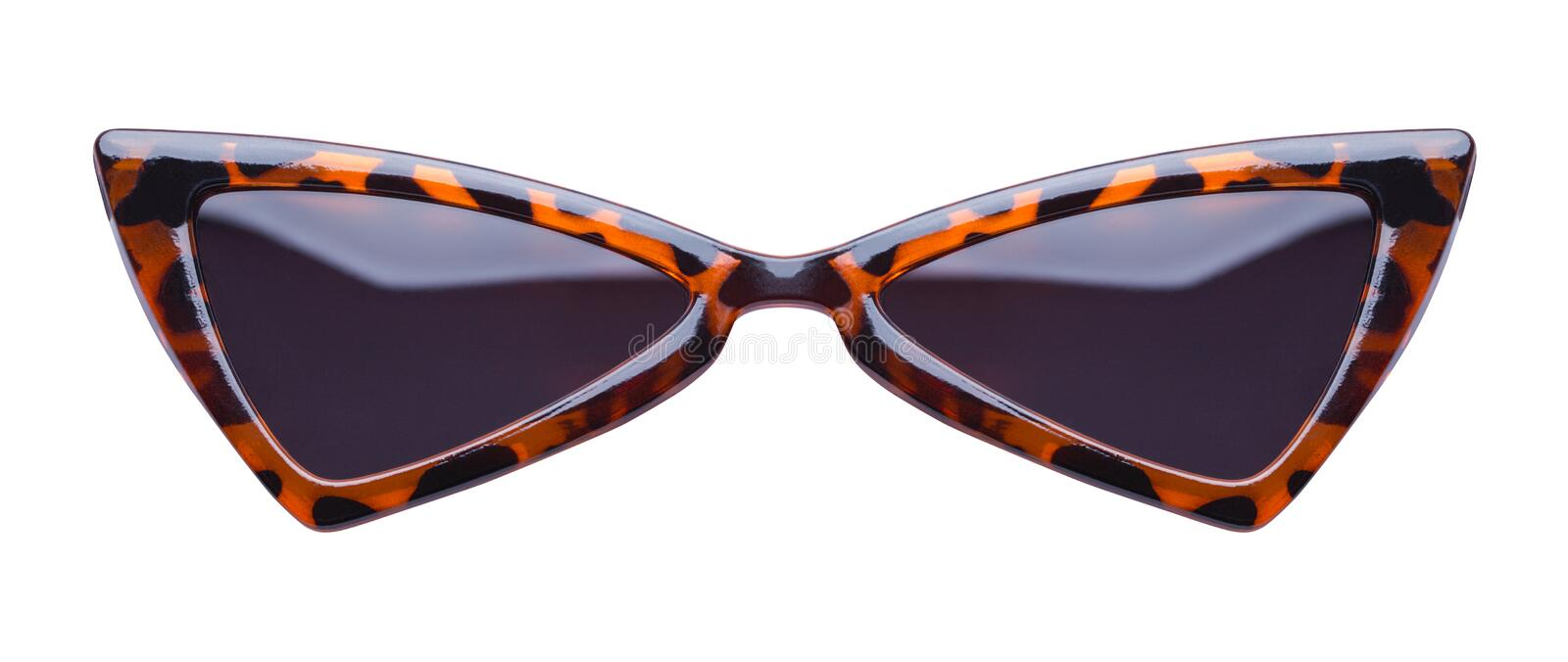 Pointed Leopard Sunglasses Front stock photography