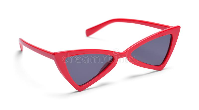 Pointed Red Sun Glasses royalty free stock photography