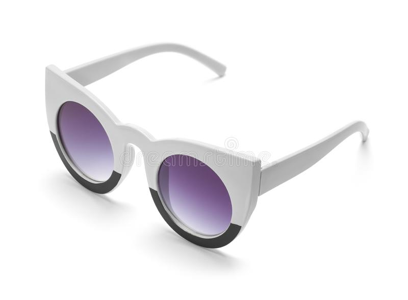 Pointed Sun Glasses Purple Lenses stock images