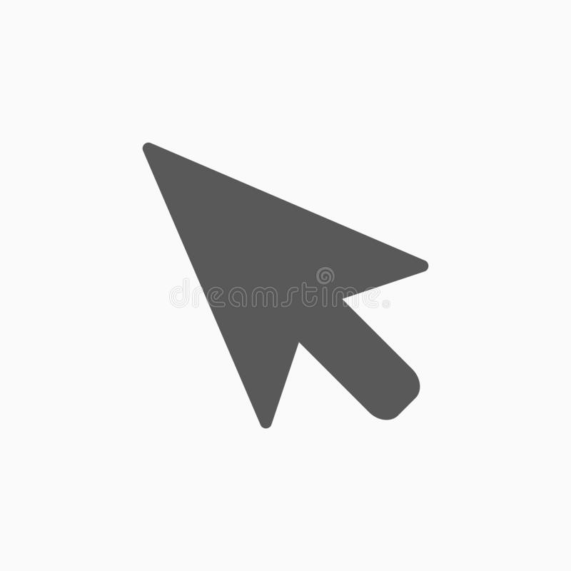 Pointer icon, arrow, mouse, click royalty free illustration