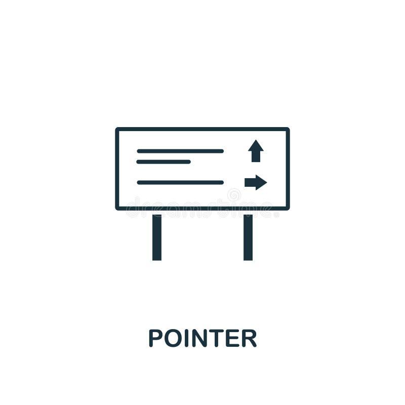 Pointer ikona Kreatywnie elementu projekt od turystyk ikon inkasowych Piksel doskonalić pointer ikona dla sieć projekta, apps, op ilustracji