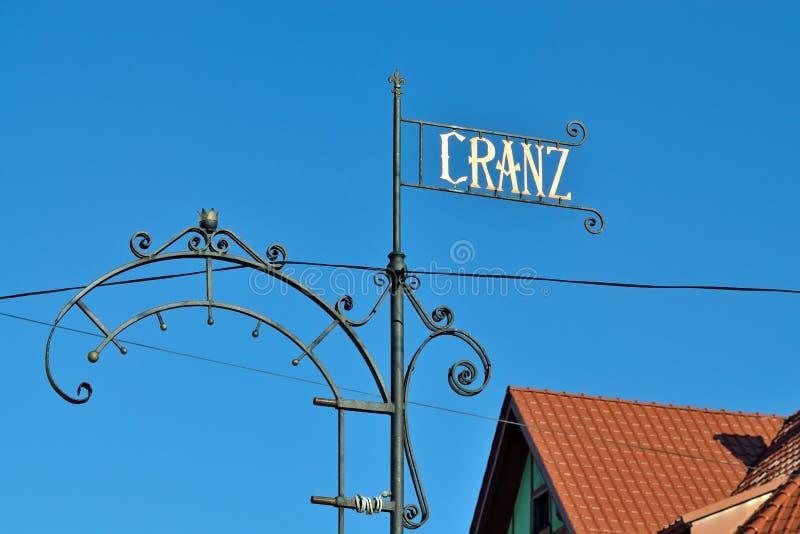 Pointer imię miasto Cranz Zelenogradsk do 1946 zdjęcia stock