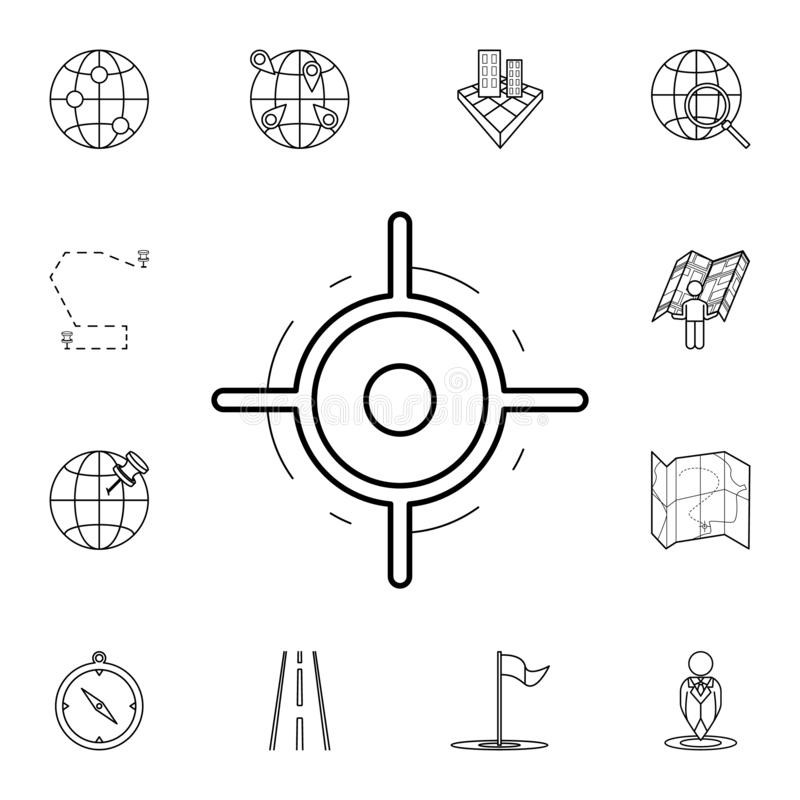 Pointer on the map icon. Detailed set of navigation icons. Premium graphic design. One of the collection icons for websites, web. Design, mobile app on white stock illustration