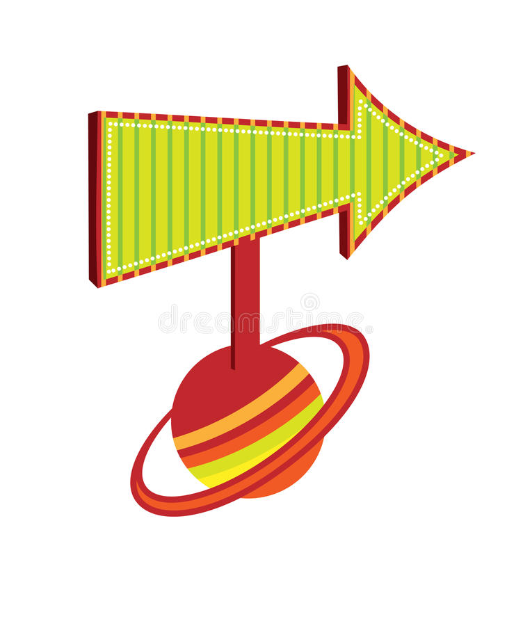 Download A Pointer To The Planet Saturn Stock Vector - Illustration of unknown, pointer: 16868672