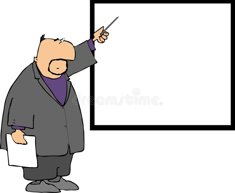 Download Pointerman stock illustration. Image of whiteboard, male - 451161