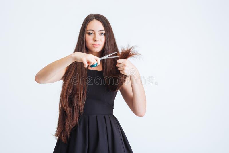Coupe de cheveux femme en pointe