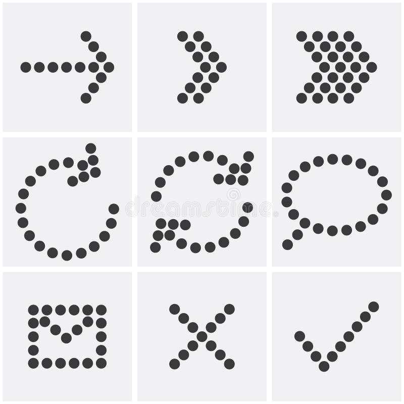 Pointille des icônes illustration stock