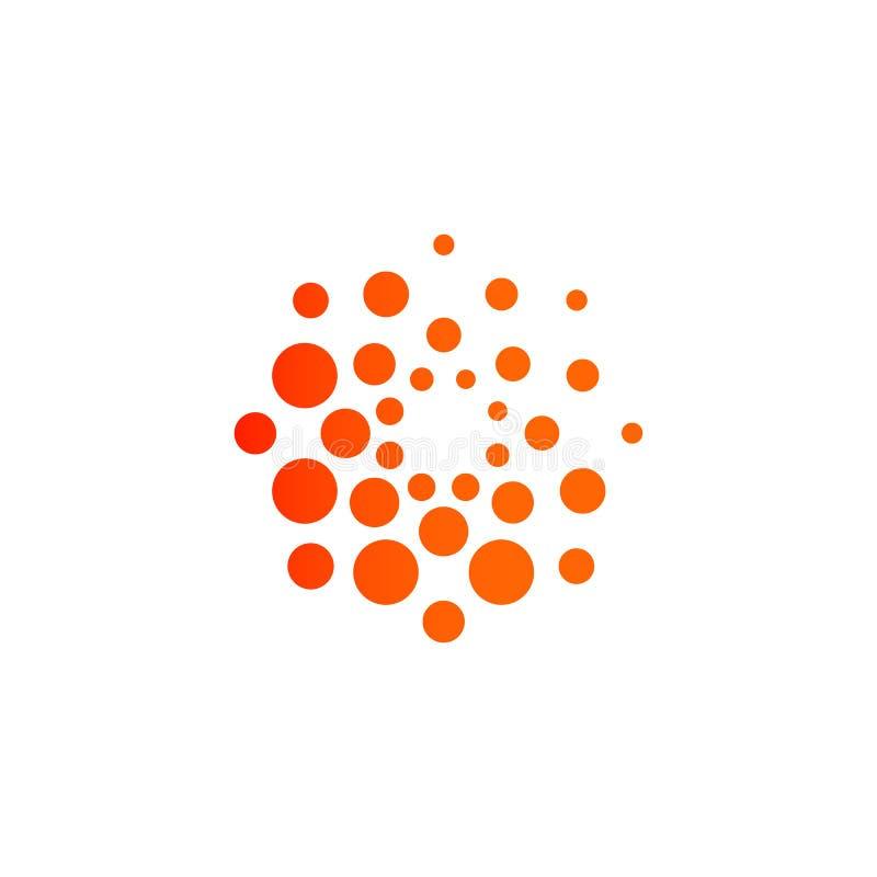 Pointille la conception de l'avant-projet moderne de logo Calibre rond abstrait d'emblème de vecteur illustration de vecteur