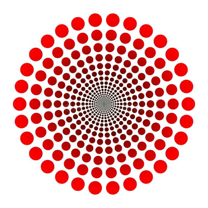 Pointille le logo illustration de vecteur
