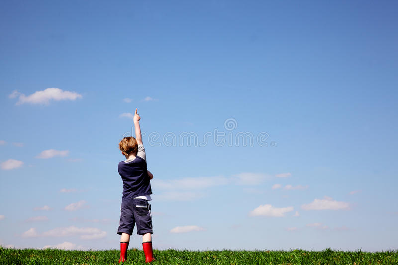 Pointing royalty free stock photo