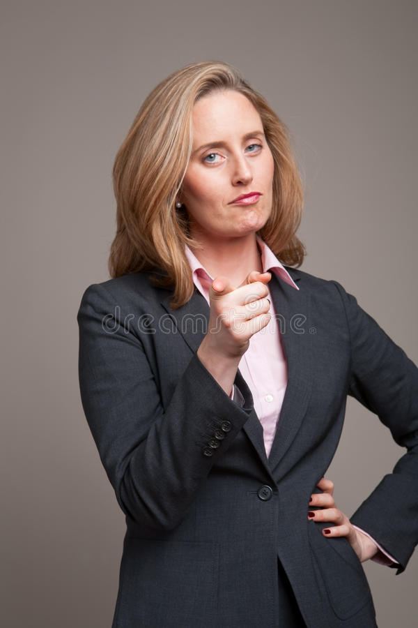 Download Pointing businesswoman stock photo. Image of years, looking - 10631016