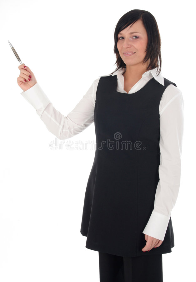 Pointing Businesswoman royalty free stock photo