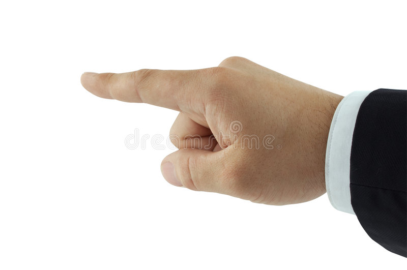 Pointing finger royalty free stock photo