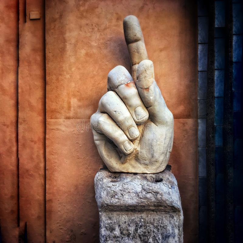 Pointing Finger of Emperor Constantine stock photography