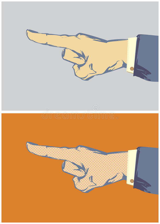 Download Pointing Finger Vector Stock Image - Image: 25542391