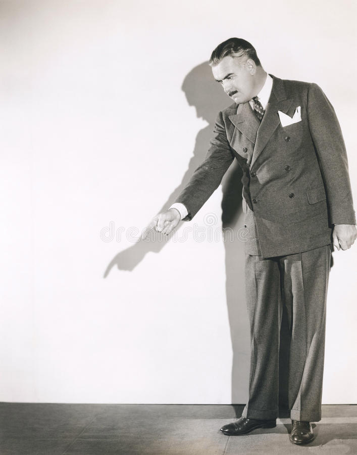 Pointing fingers stock images